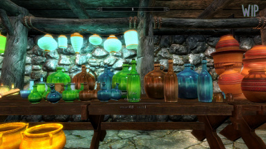 WIP Morrowind Style Glass bottles and other random clutter