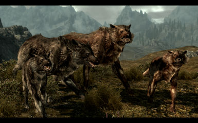 Feral Grey and Red Wolves with Pub- new textures