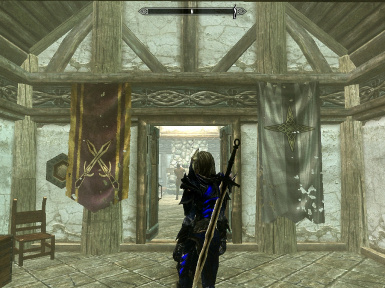 Banners I hung in my Hearthfire home