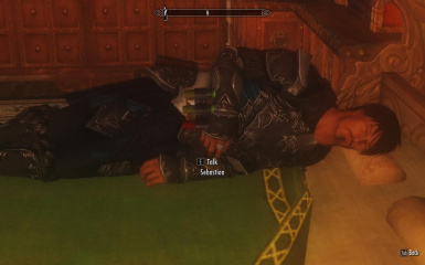 Takin a nap after a hard day of dragon slaying