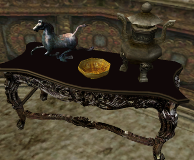 Coffeetable with three items