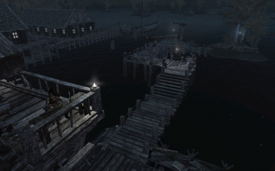Deck and Pier at Honeyside Riften