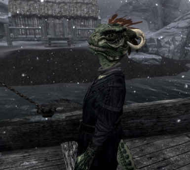 My little hatchling Ram-Ku-Argonian boy