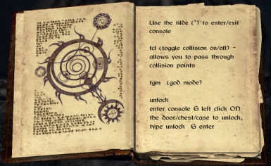 Book of commands and item codes