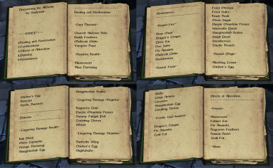 The Great Book Of Alchemy Now In 4 Volumes At Skyrim Nexus Mods