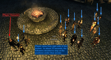 Following player character closely on ground