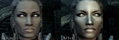 No makeup just improved textures before and after no PS