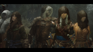 zzjay and Grace Darklings Hoods with hairs at Skyrim Nexus mods