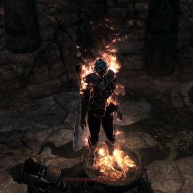 hurt by flames