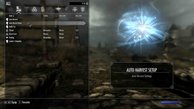 Auto Harvest Sell Menu