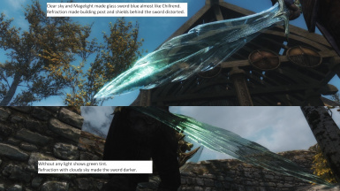 Clear Glass Sword with refraction