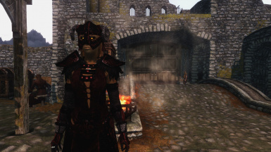 Alternate daedric armor-ebony with red accents