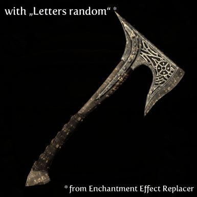 Axe with Letters random