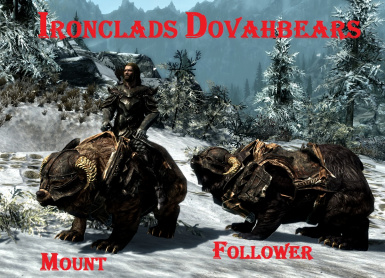 Armored Dovahbears mounts and followers