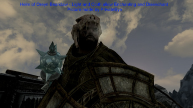 Helm of Oreyn Bearclaw - Light and Cloth allow Enchanting and Disenchant