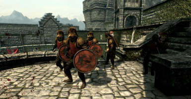 Game of Thrones Lannister Guards in Solitude