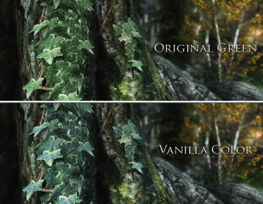 Comparison between Original Green and Vanilla Color Scheme