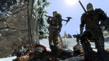 Dragonborn and his new friends