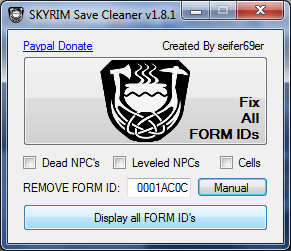 SKYRIM Save Cleaner