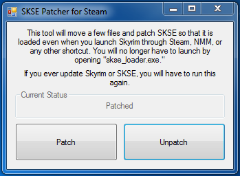 SKSE Patcher for Steam