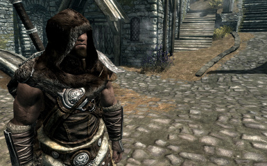 Fur Hoods HD - Nord with Studded Armor