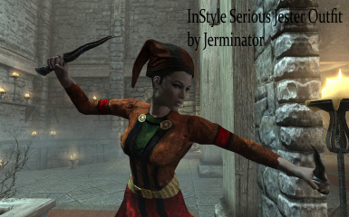 InStyle Darkly Detailed Jester Outfit