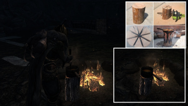 Log cooking concept