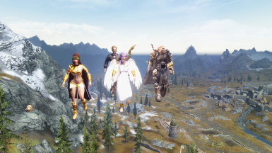 Nyrissa Winged Fury 1st Flight with the gang including Telvia Bunny  2
