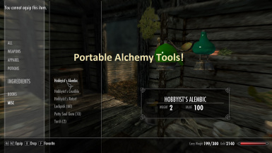 Portable alchemy tools