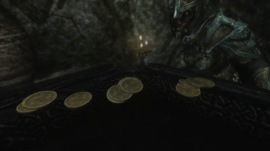 dungeon treasure - dwemer and ancient nord coins