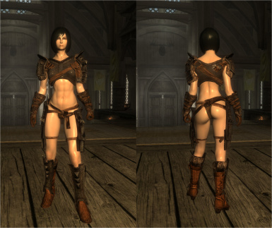 Sexy Vanilla Female Armor for UNP and SevenBase with BBP at