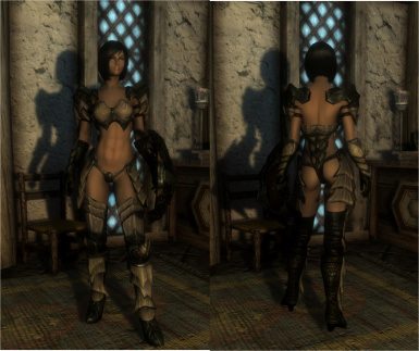Sexy Vanilla Female Armor for UNP and SevenBase with BBP at Skyrim