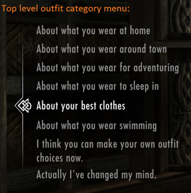Category Menu