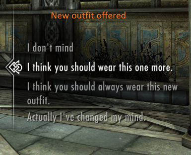 New Outfit Preferences