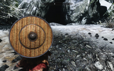 In Game Aged Round Shield