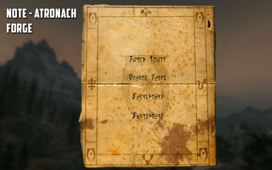 Atronach Forge Recipe