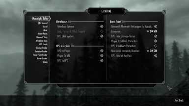 New in version 2 - General Settings