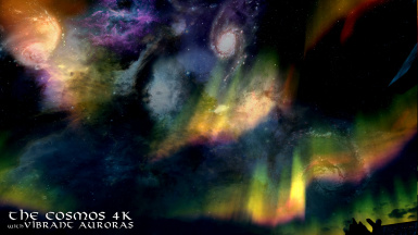 The Cosmos 4k version with Vibrant Auroras 5
