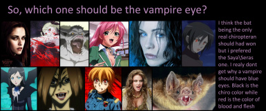 Choosing the vampire eye