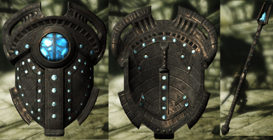 Aetherial Shield and Staff