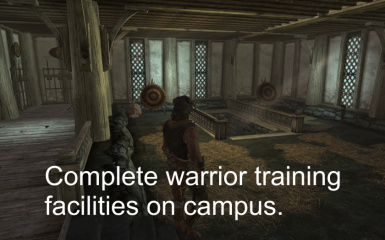 A Complete Warrior Training Zone is Available