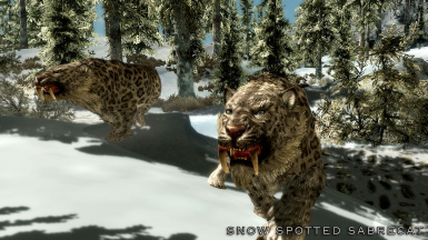 Snow Spotted Sabrecat