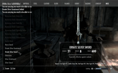 In Game - Crafting Screen