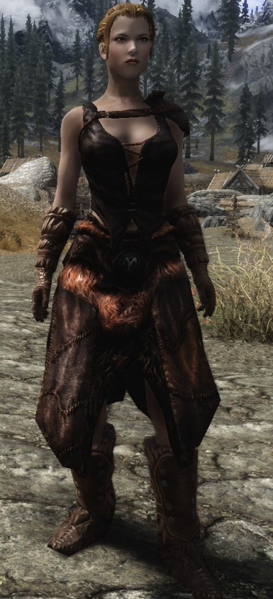 Lore Friendly Hide Armor Front