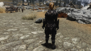 Lore Friendly Black Ebony Armor Back Weight 100
