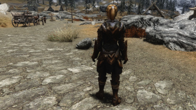 Lore Friendly Gold Ebony Armor Back Weight 0