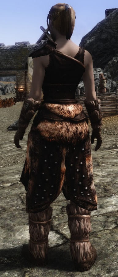 Lore Friendly Studded Armor Back