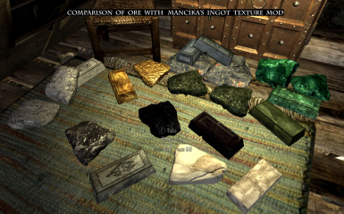 Comparison of mancikas ingot texture with these ore textures