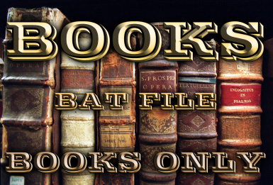 Books BAT file - Books only