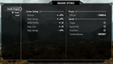 dragons settings